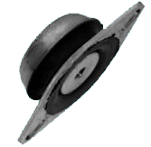 BELL ANTIVIBRATION MOUNTINGS – With pad
